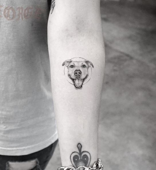 Smiling Little Dog Tattoo