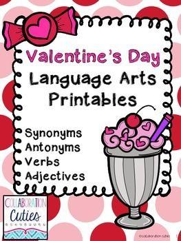 Valentine's Day Language Arts Printables FREEBIE Pack