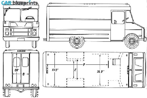 1990 chevrolet step van blueprint mobile catering food for Food truck blueprint