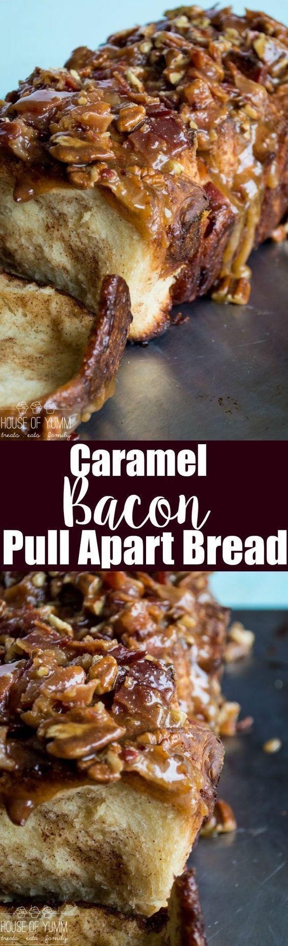 Caramel Bacon Pull Apart Bread
