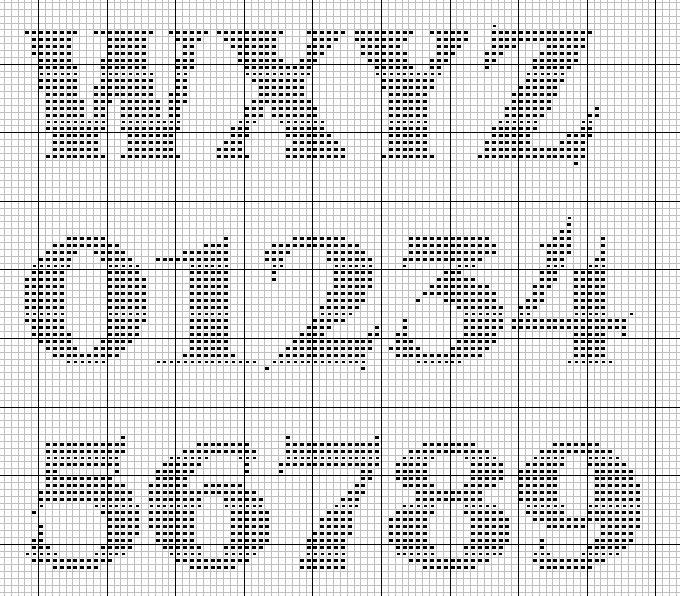 Large letters W-Z