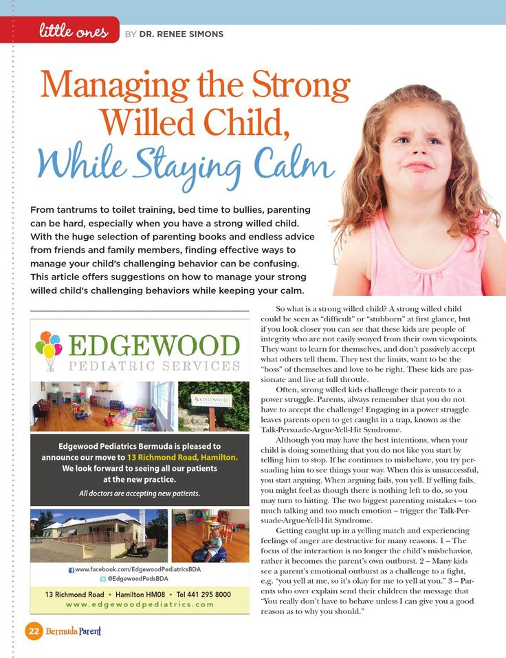 How to handle your strong-willed child #BermudaParentMagazine
