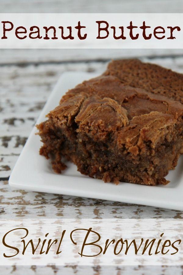 Peanut Butter Swirl Brownies - YUM~!