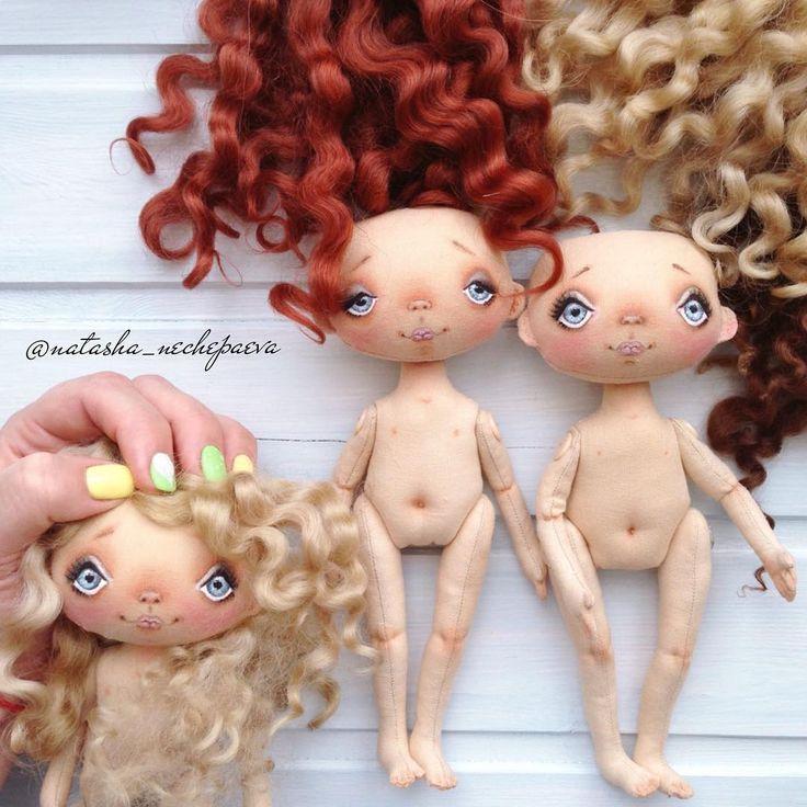 ❤️❤️❤️ #куклынечепаевойнаташи P.s. В комментарии рассказано, как приваливаются волосы к голове куклы.