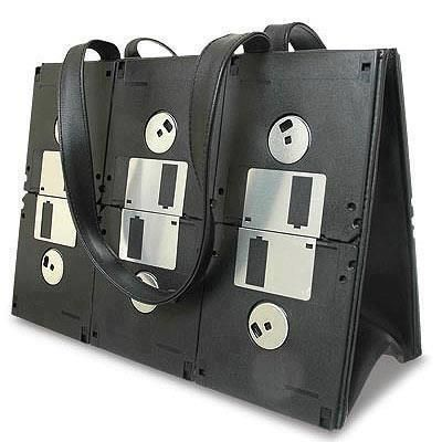 Upcycled floppy disk purse #FloppyDisk, #Purses