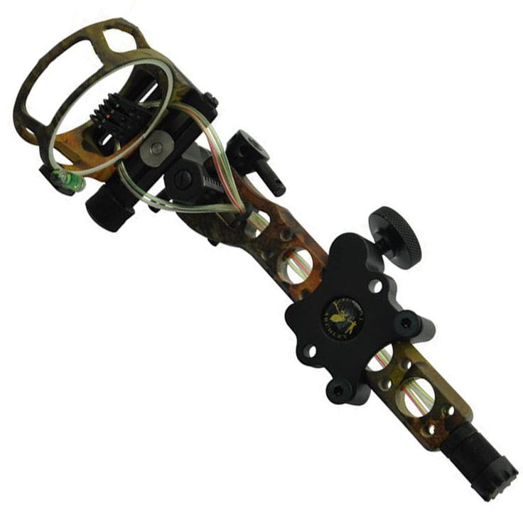 """Topoint 5 pins .019"""" Bow Sight with Micro Adjust Detachable Bracket, Sight Light for Both Right /Left Hand Compound Bow Archery #Affiliate"""