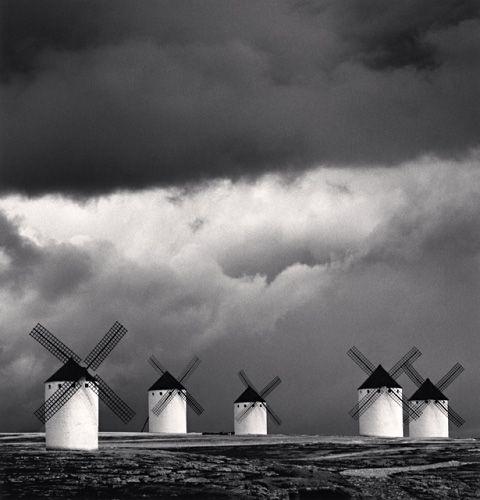 Michael Kenna: Quixotes Giants, Study 2, Campo de Criptana, La Mancha, Spain, 1996