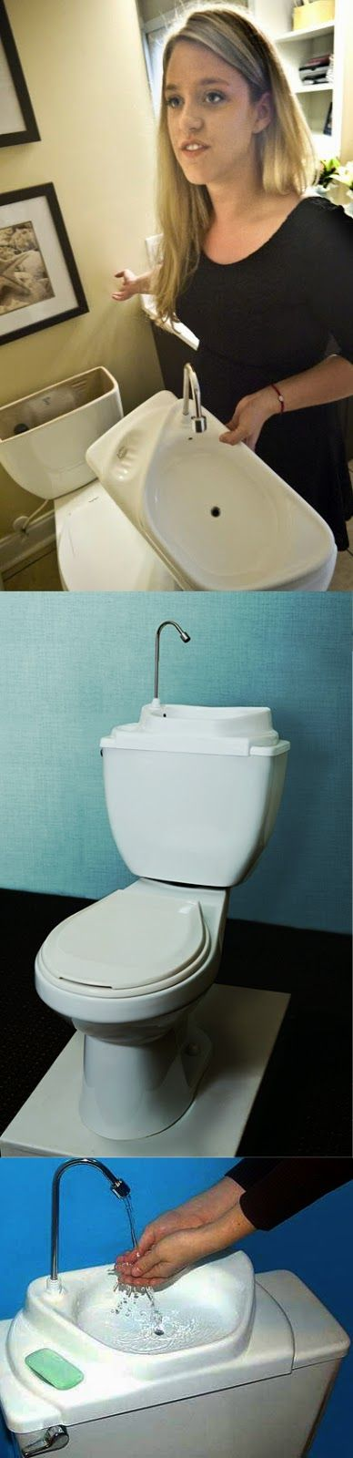 [Genius] Recycle Sink Water For Toilet Flush... this is so neat it would save so much water ...