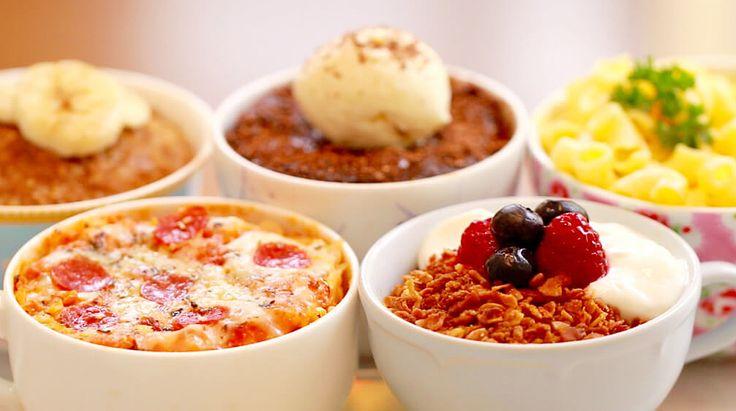 マグカップと電子レンジを使った「5つのレシピ」ピザ、マカロニ、グラノーラetc・・・ | TABI LABO
