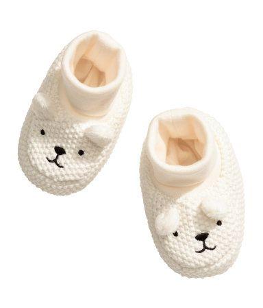 Knit Slipper Socks   Natural white   Kids   H&M US
