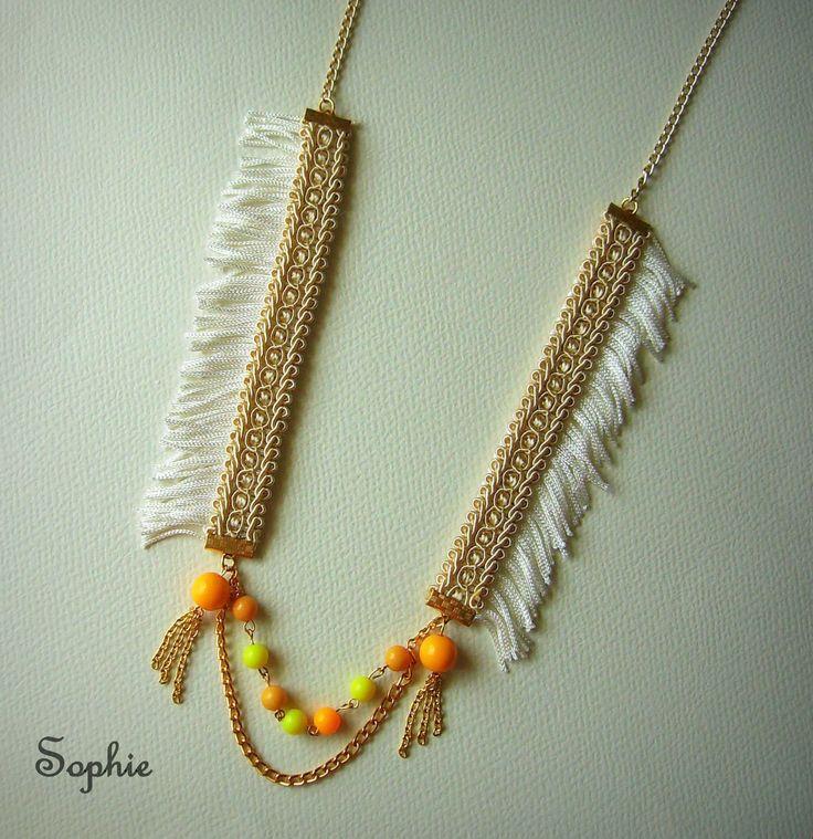 χειροποίητο κολιέ boho με κρόσσια στο πλάι  #fringes #necklace #bohem #ethnic #summerboho #bohohippie https://www.facebook.com/Sophies-world-712091558842001/