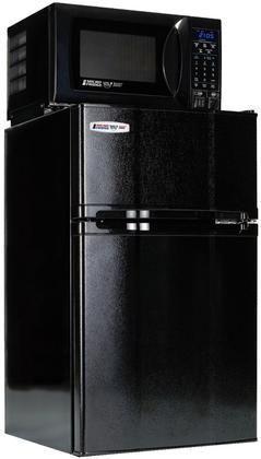 3.1MF4-7D1 3.1 cu. ft. Compact Refrigerator with Freezer 700 Watt Microwave Internal Smoke Sensor USB Charging Station and Safe Plug Technology in Black