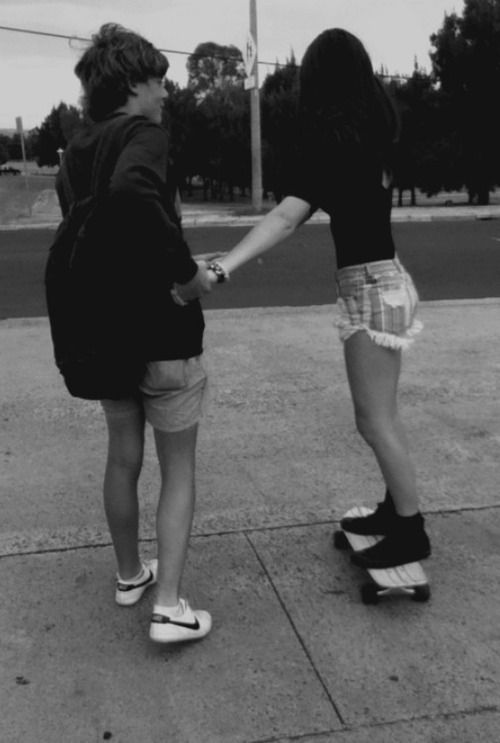 He started teaching me how to skate board today... It's actually pretty fun(: