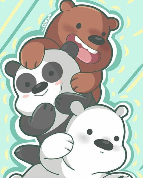 We Bare Bears Grizz Panda Ice Bear