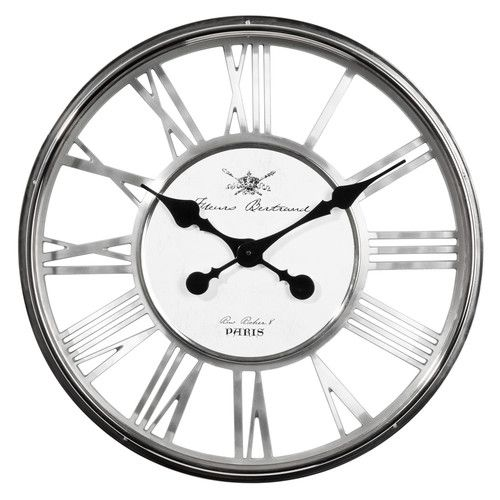 perfect from maisons du monde horloge regent chrome with ...