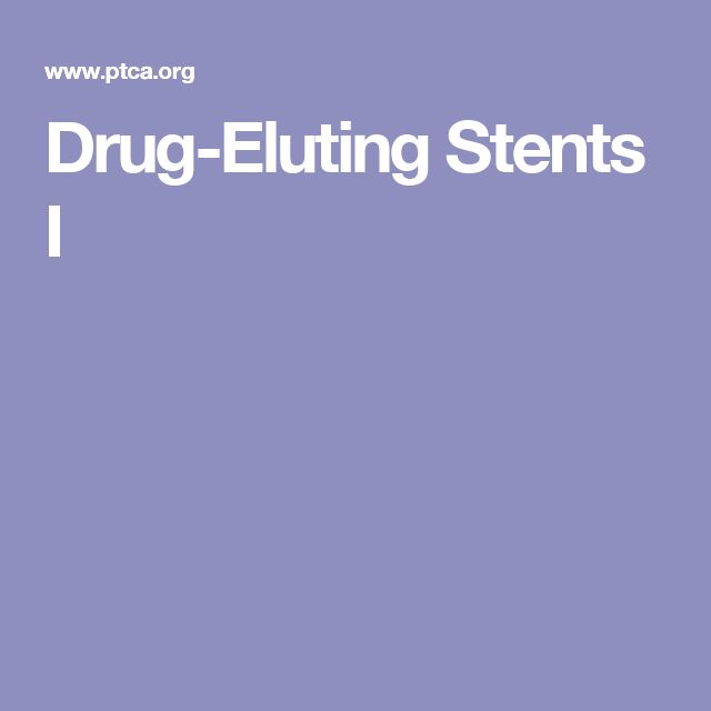 Drug-Eluting Stents I