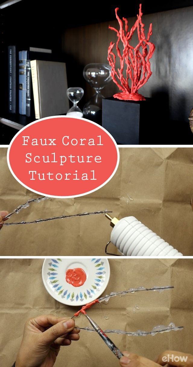 Can you believe this faux coral sculpture is made out of wire and melted hot glue?! Seriously! Full DIY here: http://www.ehow.com/how_12343774_faux-coral-sculpture-tutorial.html?utm_source=pinterest.com&utm_medium=referral&utm_content=freestyle&utm_campaign=fanpage
