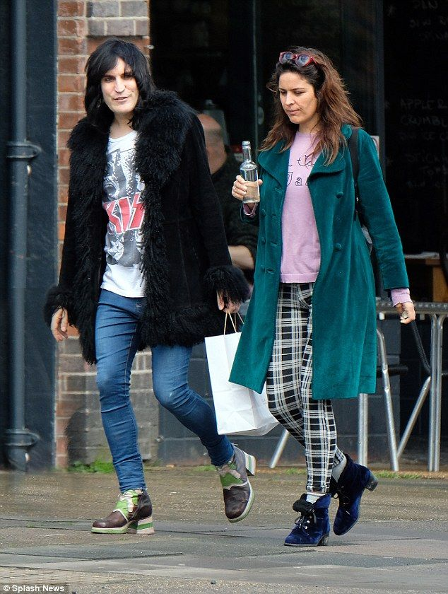 Out and about: New Great British Bake Off host Noel Fielding cut a casual figure when he stepped out in London on Wednesday alongside his partner Lliana Bird