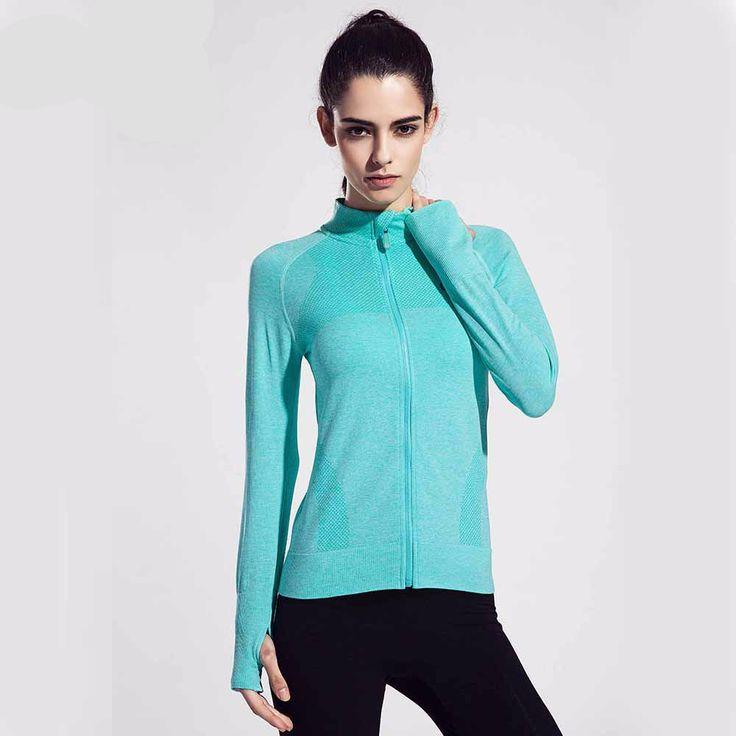 Women Running Jacket Clothing Quick-dry Long-sleeve Sportswear for Female Sports Fitness Zipper Coat Outerwear