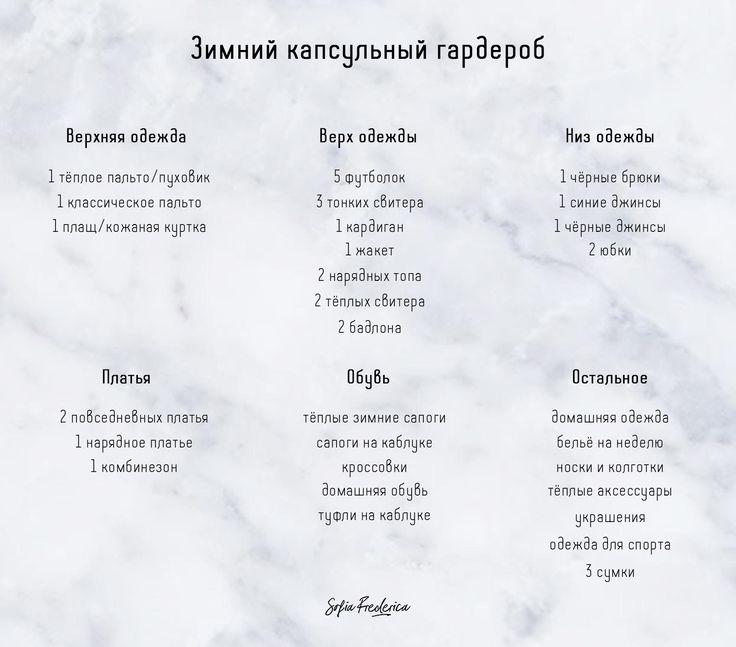 Зимний капсульный гардероб: чеклист SofiaFrederica