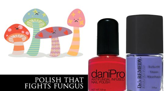 Healthy nail polish developed by two podiatrists. Garlic and tea tree oil fight yellow, brittle nails and fungus.