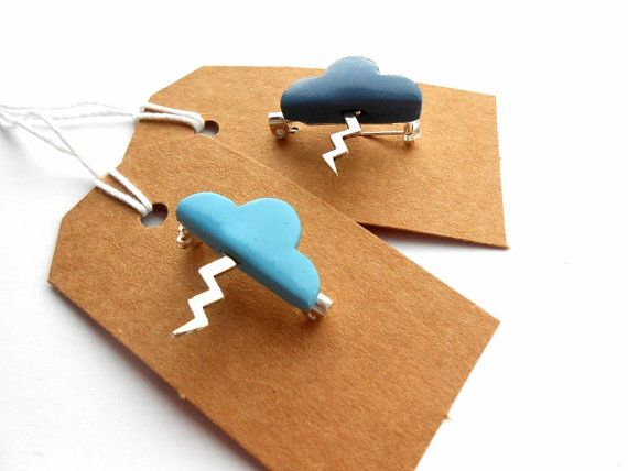 Storm cloud brooches by Sweetiepips