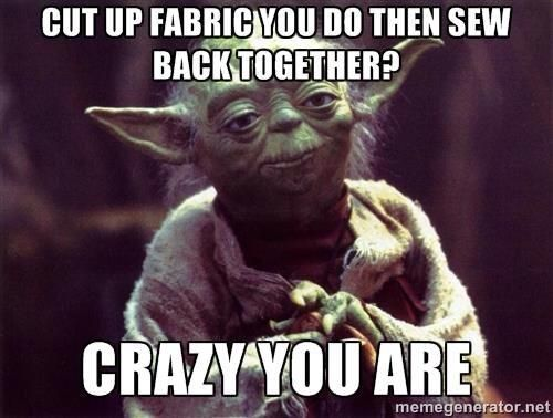 Yoda's view on quilting  :)