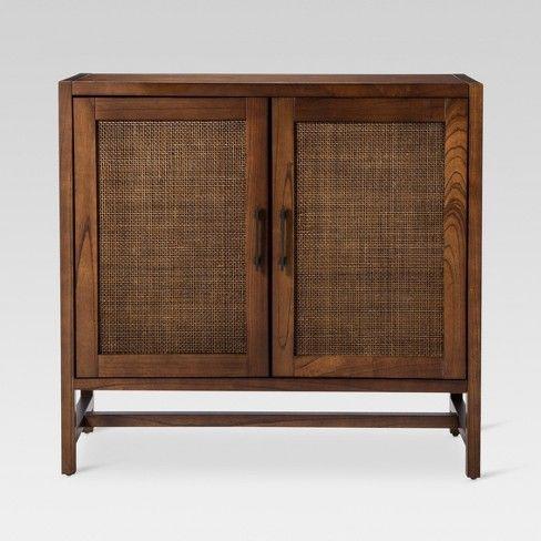 Best Warwick 2 Door Wood Rattan Accent Cabinet Threshold 400 x 300