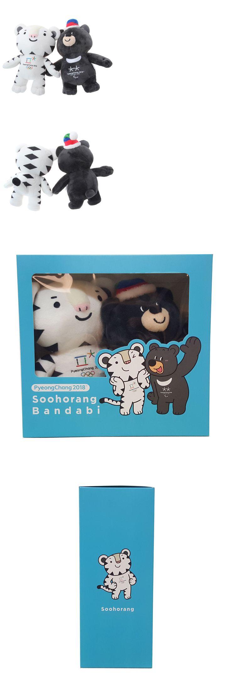 Olympics 27291: 2018 Korea Pyeongchang Winter Olympics Soohorang Bandabi Mascot Mini Doll Set -> BUY IT NOW ONLY: $43.99 on eBay!