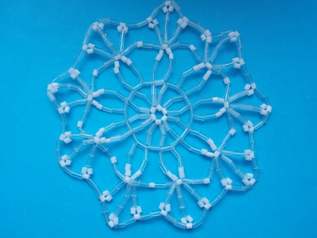407 best images about beaded snowflakes patterns