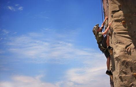 My son rock climbing.  Washington, D.C.: Boy Scout Jamboree 2013   Smithsonian Student Travel