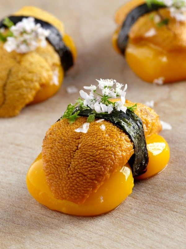 Sea Urchin at The Bazaar by José Andrés at SLS Beverly Hills http://sbe.com/blog/20-best-dishes-in-2014/