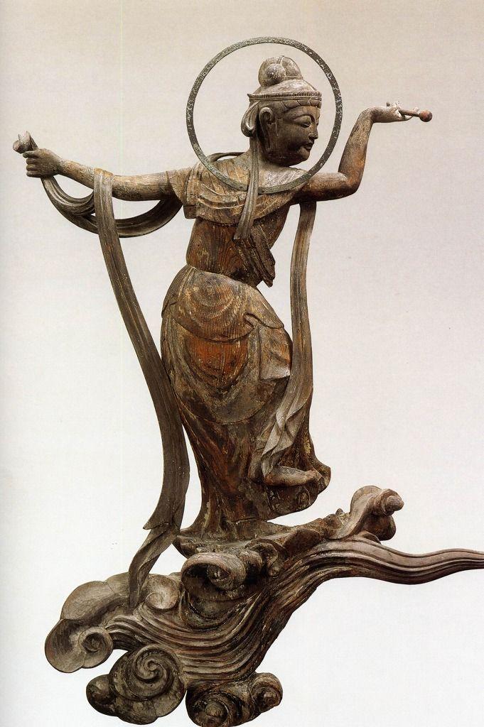 雲中供養菩薩像、北10号像/Unchu Kuyo Bodhisattva  http://www.geocities.jp/saitohmoto/hobby/gakki/Byodoin/Byodoin.html
