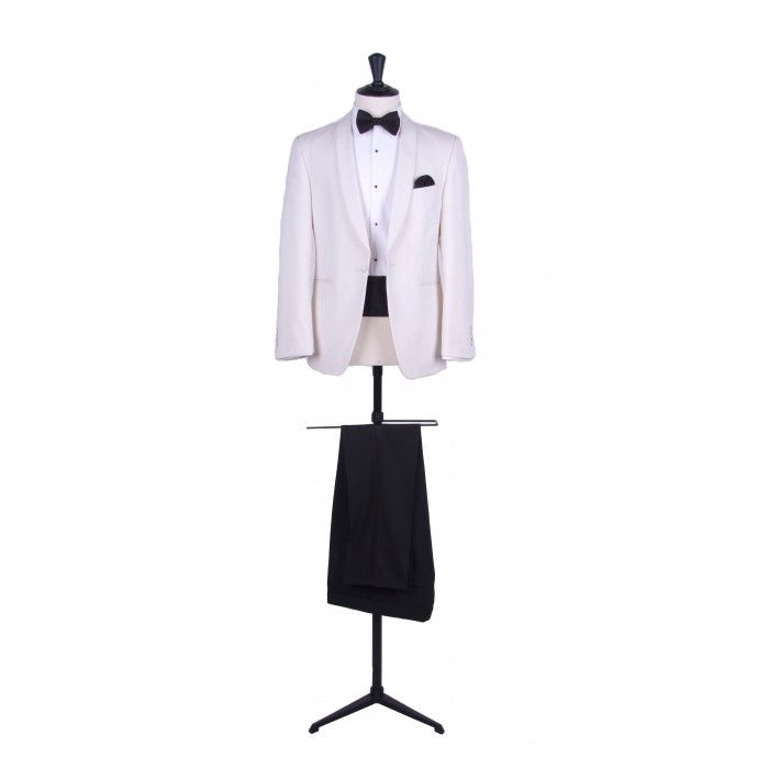 Grooms slim fit cream shawl collar dinner suit / tuxedo
