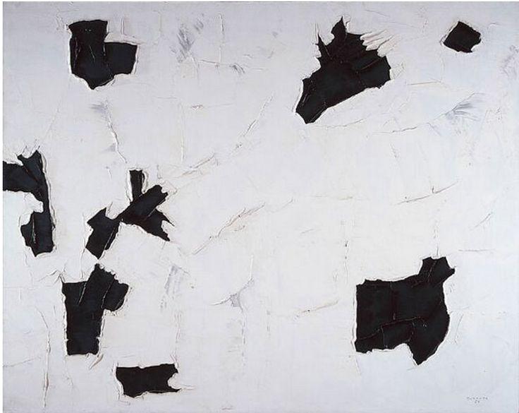 Paul-Émile Borduas (1905-1960),  3 + 4 + 1, 1956, oil on canvas.