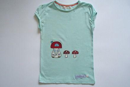 su ALittleMarket: T-shirt da bambina, in puro cotone - taglia 4-5 anni  : Moda bambina di mompatchwork