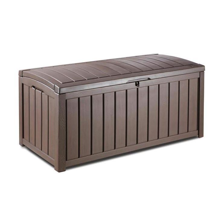 Keter Glenwood 50 4 In L X 25 6 In Espresso Brown Deck Box At