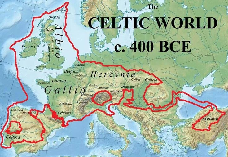 The Celtic world was pretty much everything just north of the Danube was eastern Germanic in ancient times and north of the Danube in Romania there were Dacians who spoke Daco-Thracian languages (neither Celtic nor Germanic):