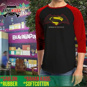 kaos batman vs superman raglan hot (ter bvs 01)