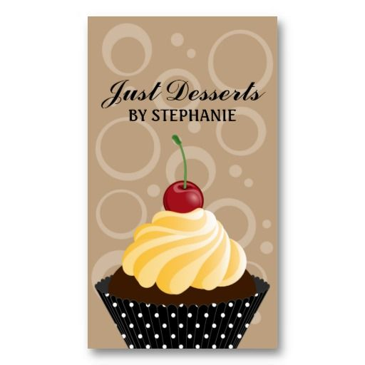 Best Cupcake Shaped Business Cards Images On Pinterest Bakery - Cupcake business card template