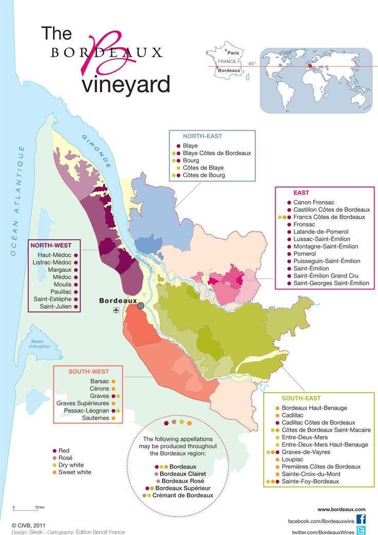 Bordeaux Wines   The Vineyard - Appellations map - Bordeaux Wines