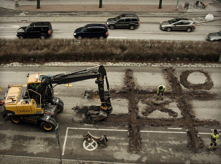 Roadworkers coffebreak