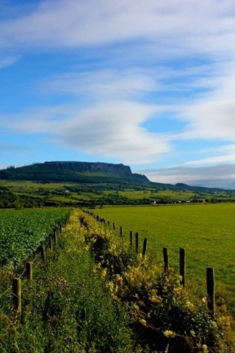 Limavady,Northern Ireland with Benevanagh in the background
