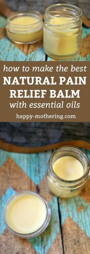Are you looking for a natural pain relief product that works? Our tutorial shows you how to make a DIY pain relief balm that includes natural ingredients like essential oils and coconut oil. It can help with inflammation, sore muscles, headaches, arthritis and more. Be sure to check out our other salve recipes while you've visiting! #painrelief #naturalremedies #diy #essentialoils #naturalpainrelief #homemade #coconutoil via @happymothering