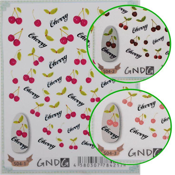 $2.39 1 Sheet 3D Nail Art Sticker Colorful Cherry Decal Manicure Nail Decoration S04 - BornPrettyStore.com