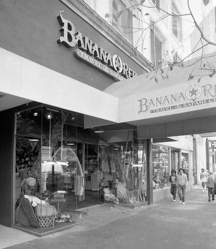 Banana Republic's first store was open in Mill Valley in 1978 brought to prominence near San Francisco's Union Square.