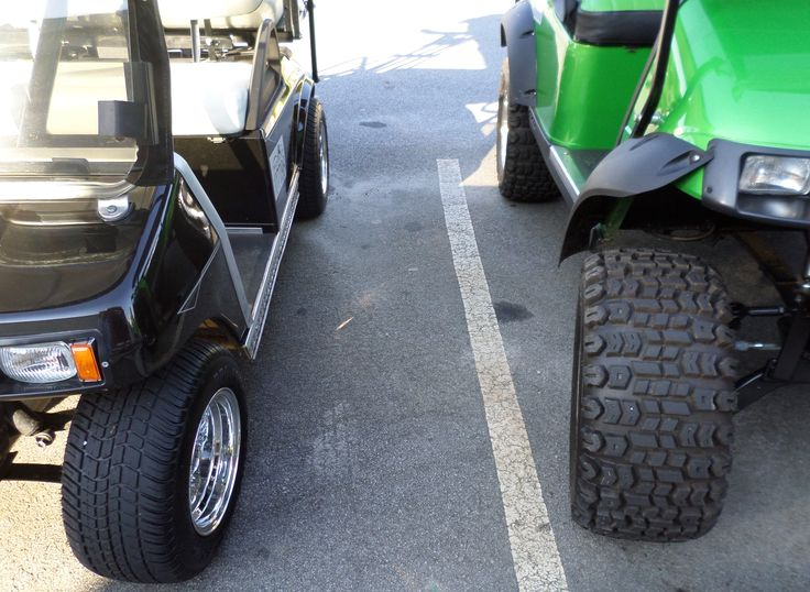 43 best golf cart tires and wheels images on pinterest custom compare these two golf cart tire sizes and treads the standard size is but other sizes go from but if you go over a lift kit is required solutioingenieria Choice Image