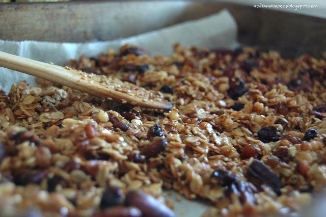 Homemade granola. Handmade granola