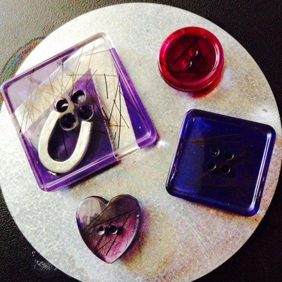Aimants Violet et Crins par CrinsBonheur sur Etsy