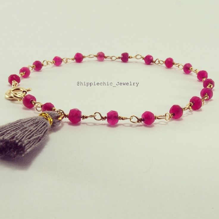 #rosario #bracelet #hippiechic #ruby #gold #handmade soon on etsy!